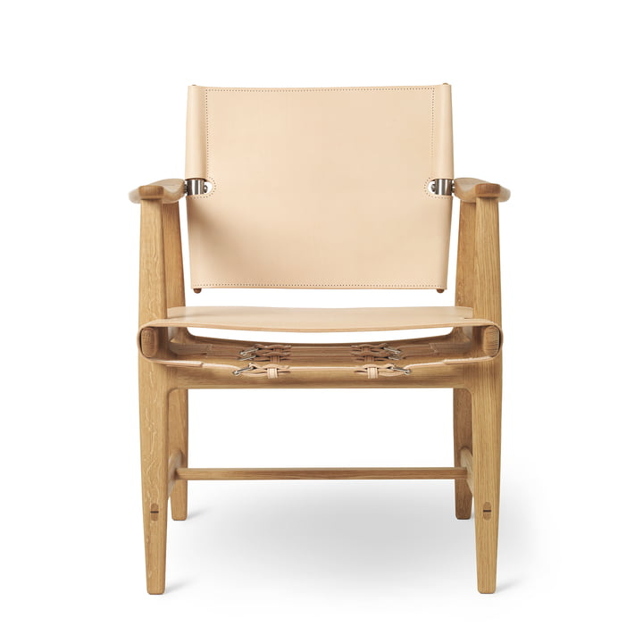 BM1160 Huntsman Chair, chêne huilé / cuir de selle naturel (ferrures en acier inoxydable) par Carl Hansen