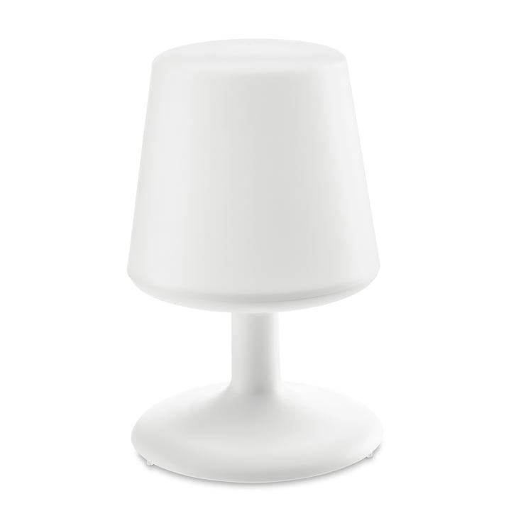 Lampe de table sans fil en coton blanc par Koziol