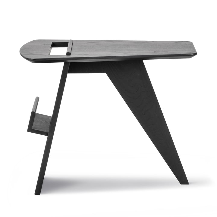 Table d'appoint Risom magazine en chêne laqué noir laqué Frédéricia
