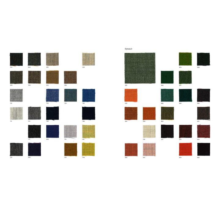 Carte des tissus Canvas 2 de Kvadrat