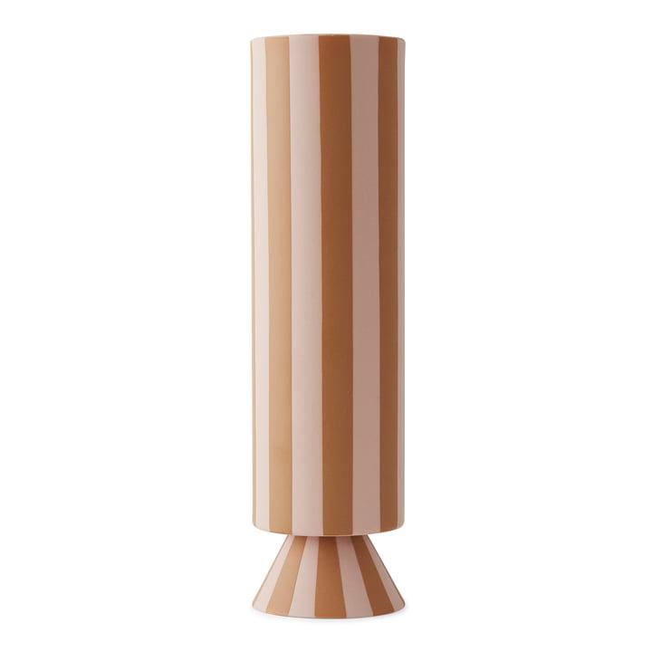 Vase Toppu Ø 8,5 x H 31 cm de OYOY en rose / caramel