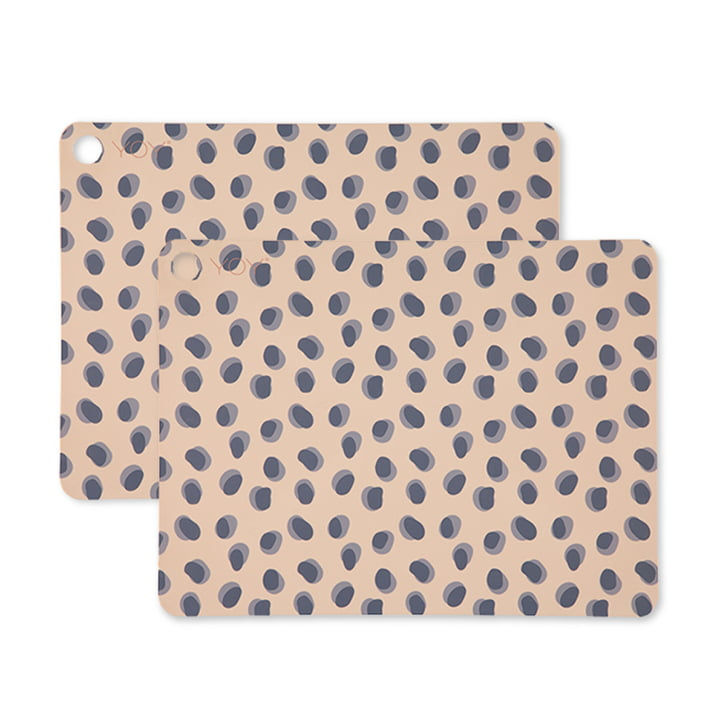 Set de table Leopard Dots, 45 x 34 cm en chameau (set de 2) par OYOY