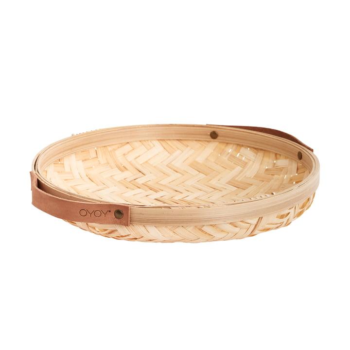 Panier à pain Sporta, Ø 30 x 5,5 cm, bambou nature par OYOY