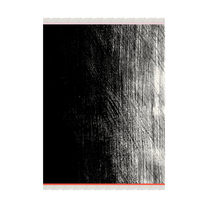 Couverture Kuiskaus 140 x 180 cm de Marimekko en noir / blanc / rouge