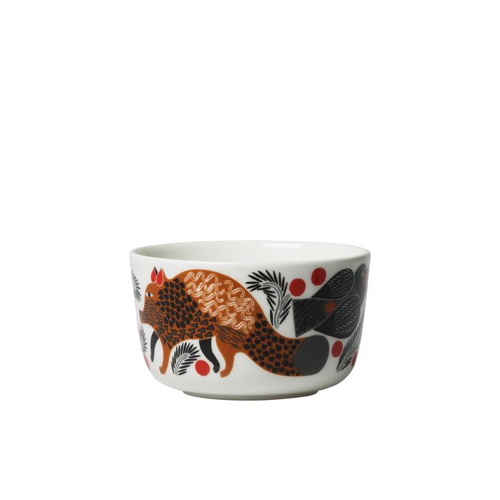 Bol Oiva Ketunmarja 250 ml par Marimekko en blanc / brun / noir