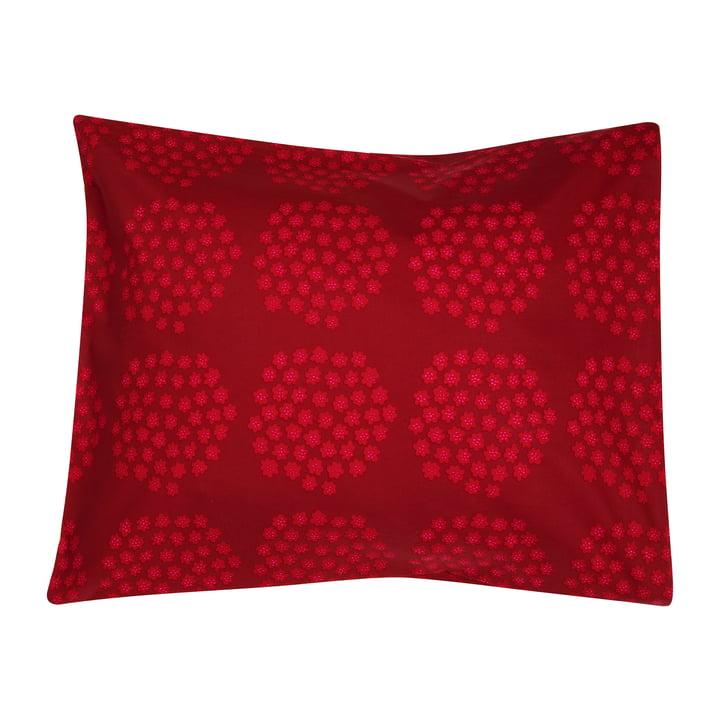 Taie d'oreiller Puketti 65 x 65 cm de Marimekko en rouge / rouge foncé