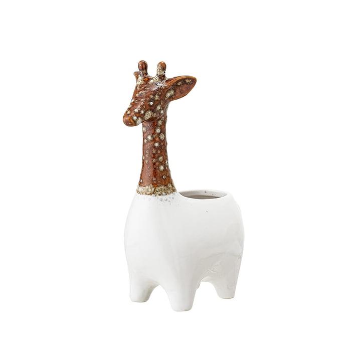 Jardinière en faïence Girafe de Bloomingville en marron / blanc