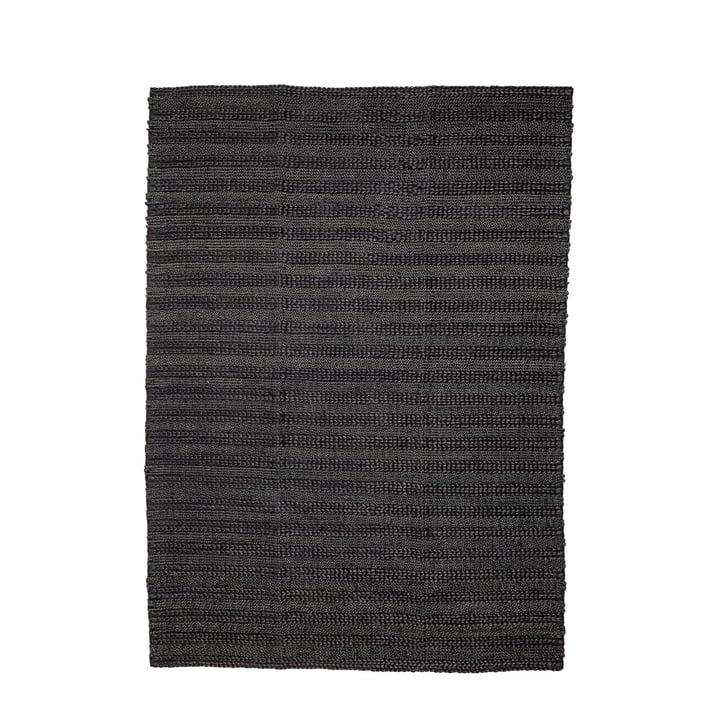 Tapis en fibre naturelle 210 x 150 cm de Bloomingville en noir