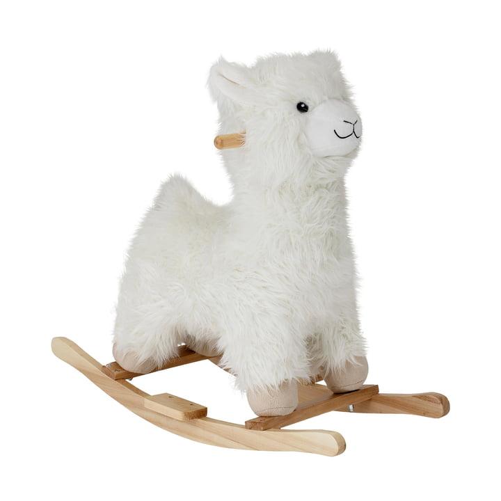 Lama à bascule de Bloomingville, blanc laine