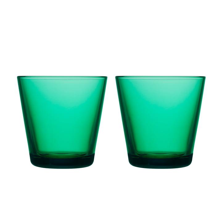 Kartio Verre à boire 21 cl (lot de 2) de Iittala couleur vert émeraude