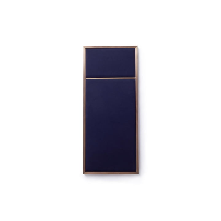 Nouveau Tableau S, 62,3 x 27,6 cm, laiton / navy blue de Please wait to be seated