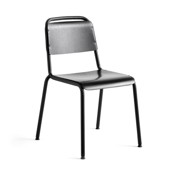 Chaise demi-journée, revêtement époxy noir / chêne noir par Hay