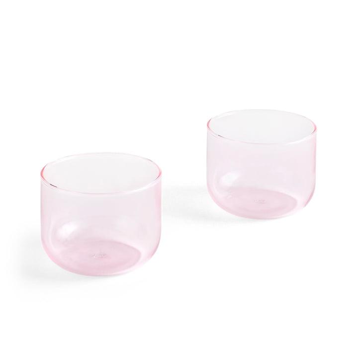 Verre à boire teinté 200 ml en rose (lot de 2) par Hay