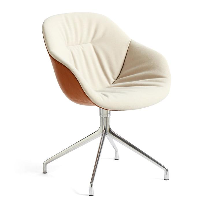 A propos de la chaise AAC 121 Soft Duo, aluminium poli / Steelcut Trio 226 / Silk SIL0229 by Hay