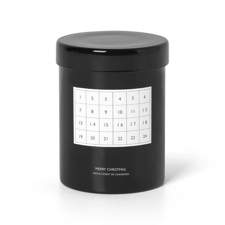 Bougie de calendrier parfumée de ferm Living in black