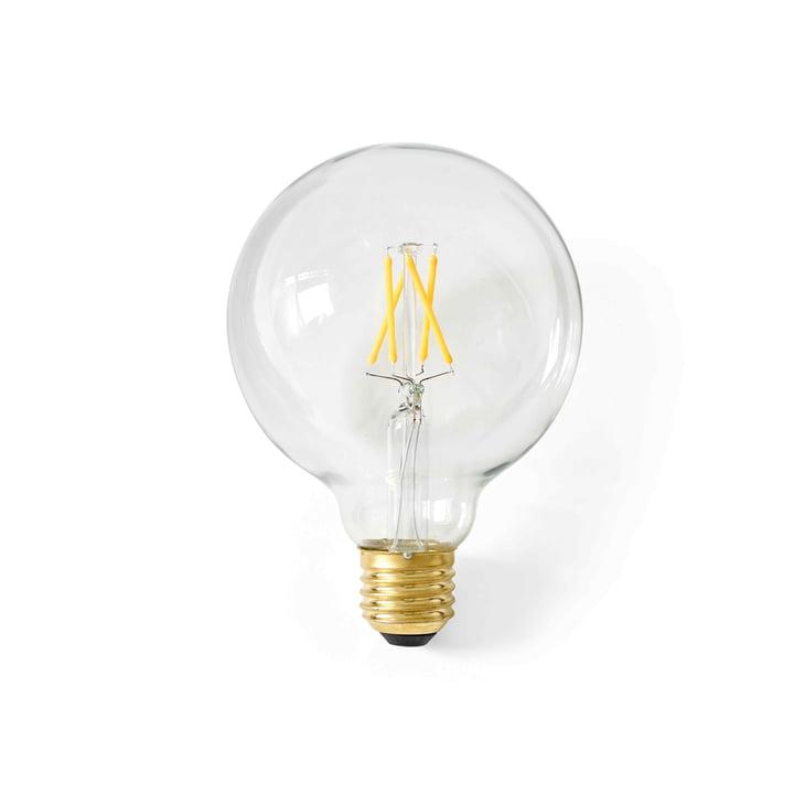 Globe ampoule LED E27, Ø 95 mm / transparent depuis le menu