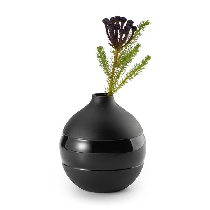 Vase Negretto S, noir par Philippi