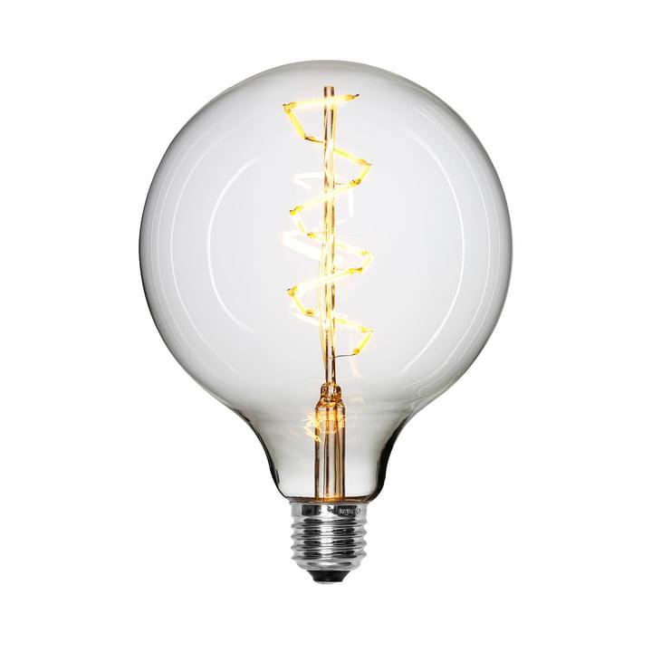 Ampoule LED-Spiral Ø 125 mm, E27 / 1,5 W, transparent de la collection NUD