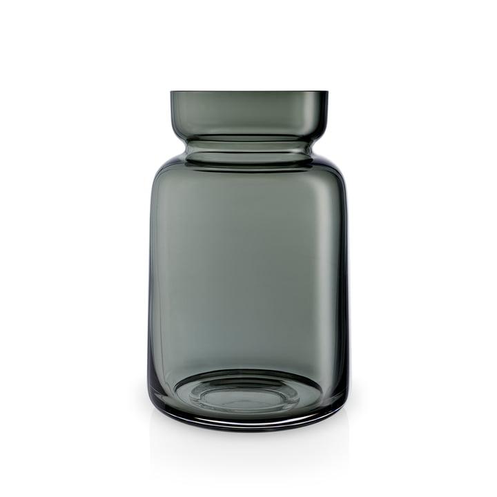Vase en verre Silhouette H 18,5 cm d'Eva Solo en gris fumé