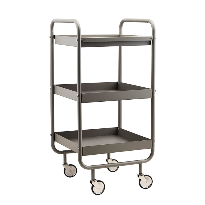 Chariot de service Roll by House Doctor en gris