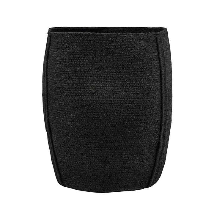 Panier de rangement pour fûts Ø 40 x H 45 cm par House Doctor en noir