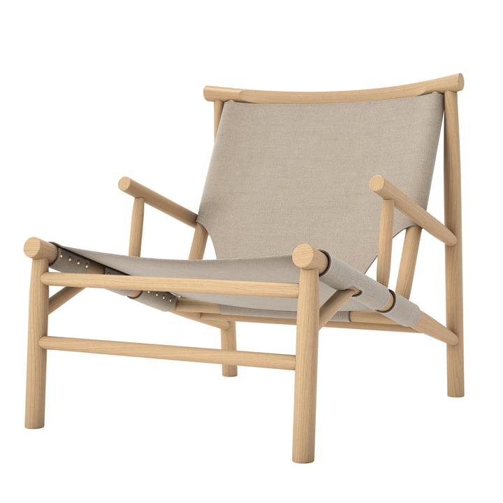 Chaise Samurai Lounge Chair by Norr11 en chêne naturel / toile