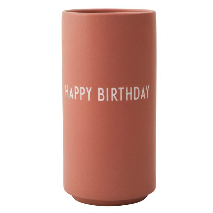 AJ Vase en porcelaine préféré Happy Birthday par Design Lettres nues