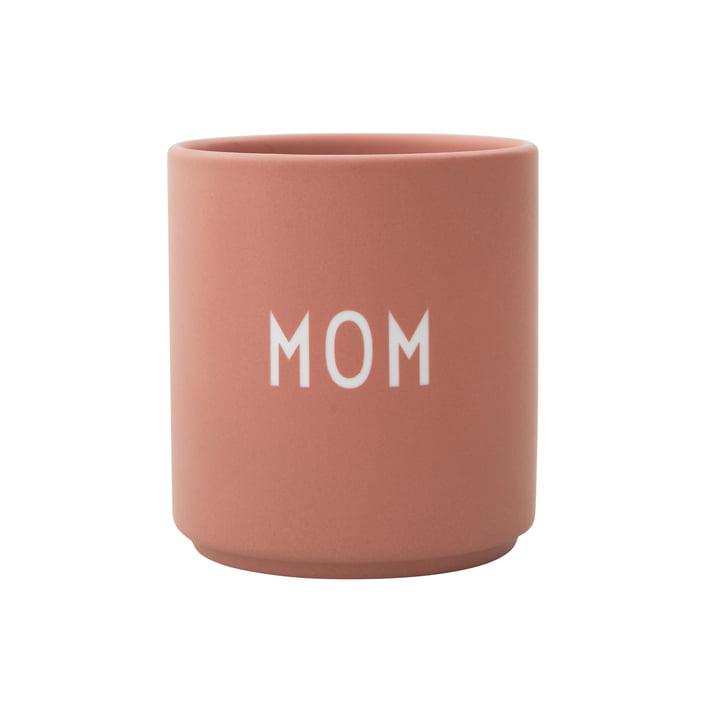 Tasse en porcelaine AJ préférée de maman par lettres de design