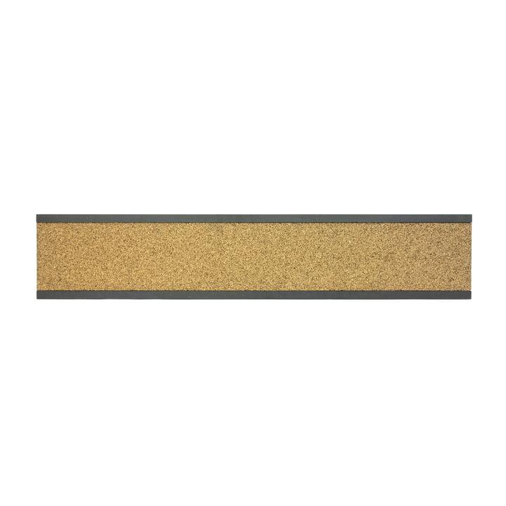 Connox Collection - Bande de liège à épingles, MDF noir / haut / 90cm