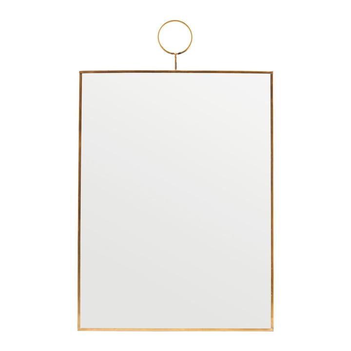 Miroir mural à boucle, 30 x 40 cm, laiton par House Doctor