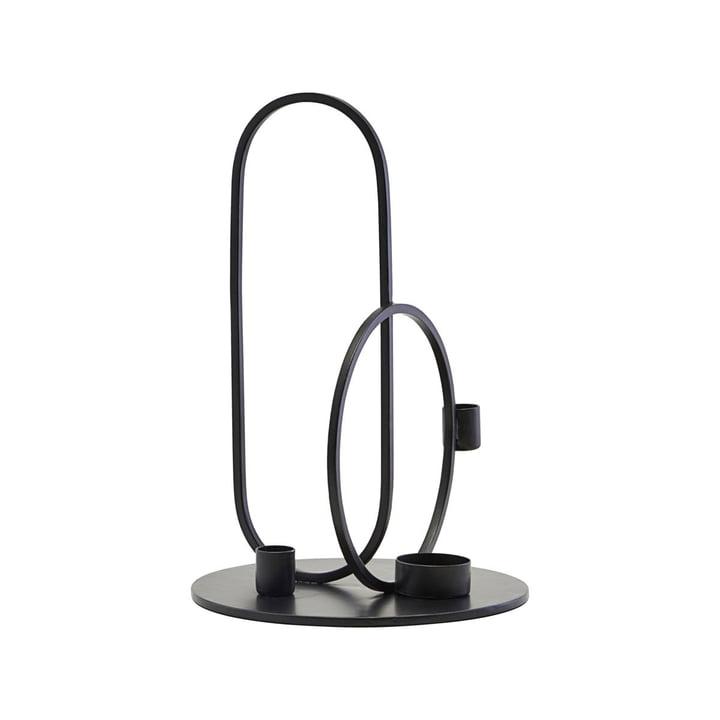 Bougeoir Cirque H 30 cm, noir par House Doctor