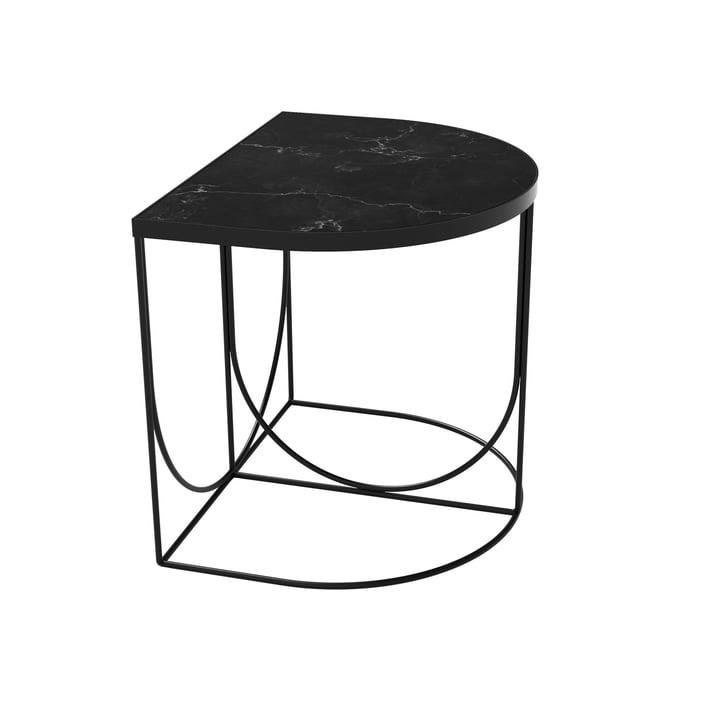 Sino Table d'appoint 40 x 50 cm de AYTM en noir / marbre noir