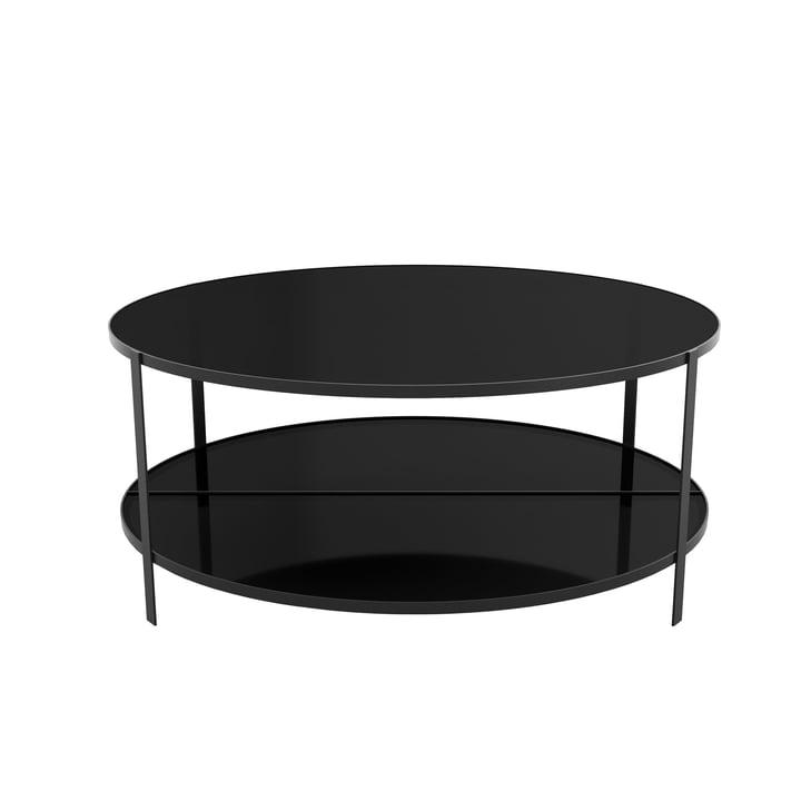 Table basse Fumi Ø 90 x H 37 cm de AYTM en noir