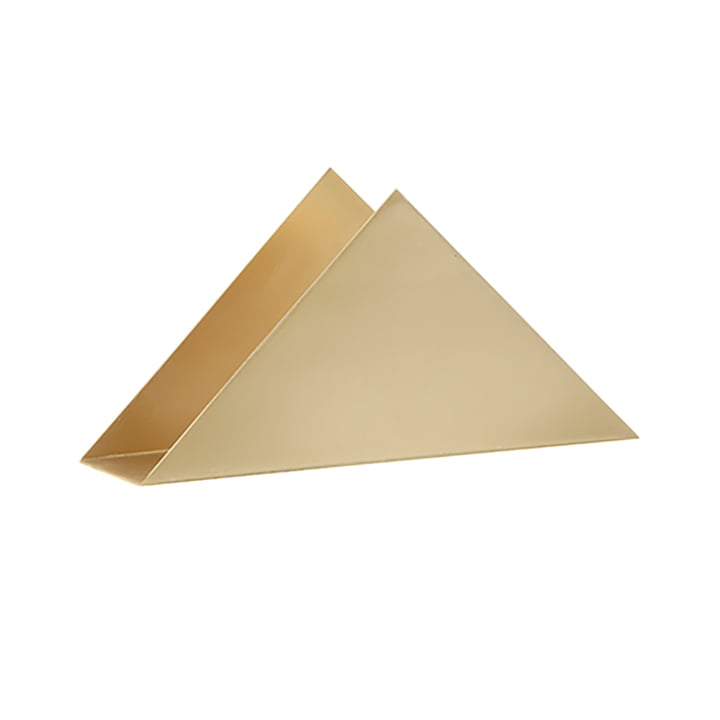 Porte-serviettes triangulaire de ferm Living in laiton