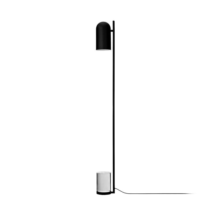 Lampadaire Luceo, Ø 12 x H 140 cm, noir / clair par AYTM