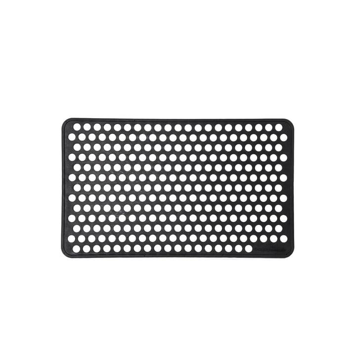 Paillasson en caoutchouc 45 x 75 cm point de tica copenhague en noir
