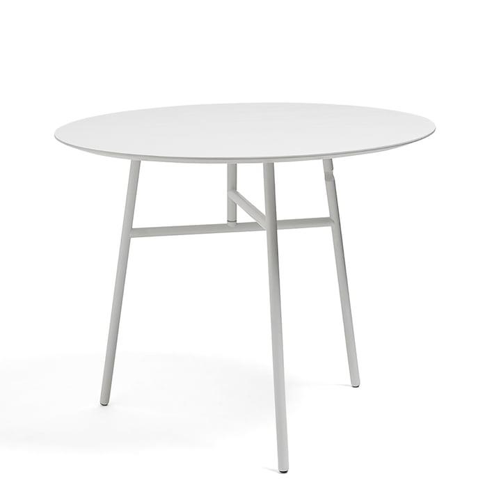 Table pliante inclinable Ø 90 x H 74 cm par Hay en blanc