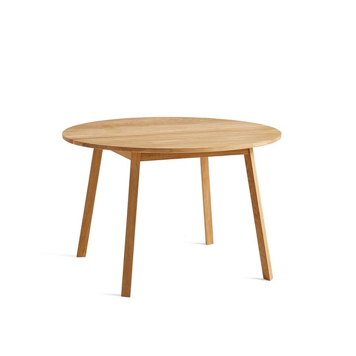 Table de repas Triangle Pied Ø 115 cm par Foin en chêne huilé