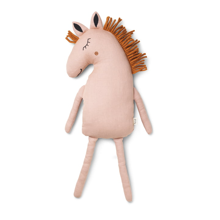 Coussin Safari cheval par ferm Living in dustty rose