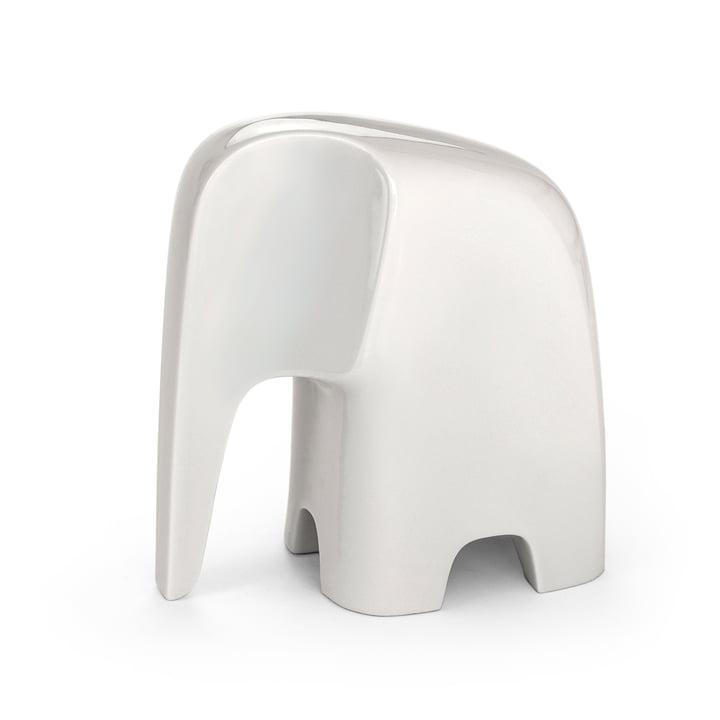 Olifant de Caussa en porcelaine blanche