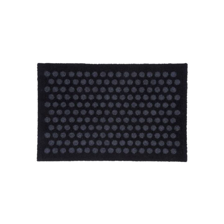 Paillasson à pois 40 x 60 cm de tica copenhagen en noir / gris