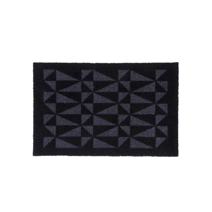 Paillasson graphique 40 x 60 cm de tica copenhagen en noir / gris