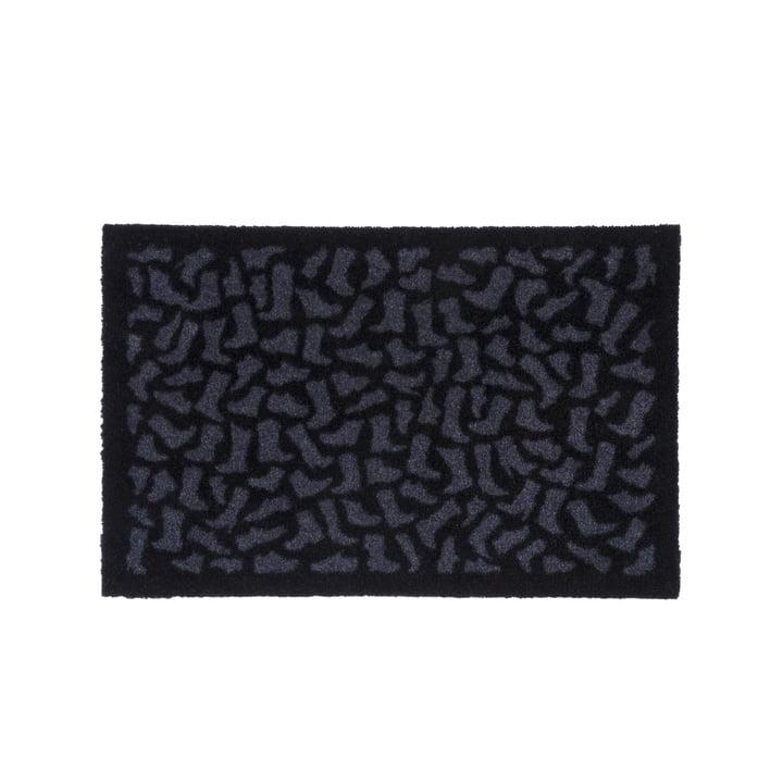 Paillasson pour chaussures 40 x 60 cm de tica copenhagen en noir / gris
