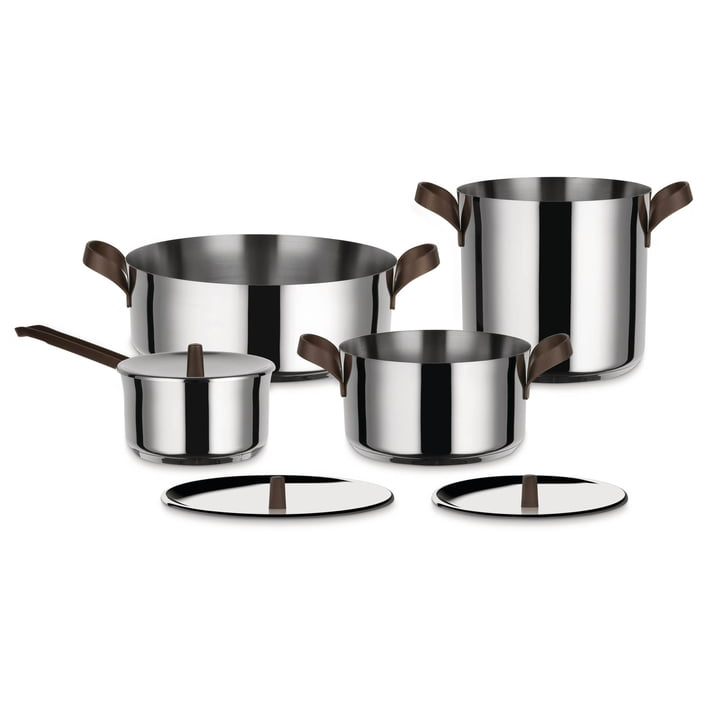 Set de casseroles Edo d'Alessi en acier inoxydable (7 pcs.)