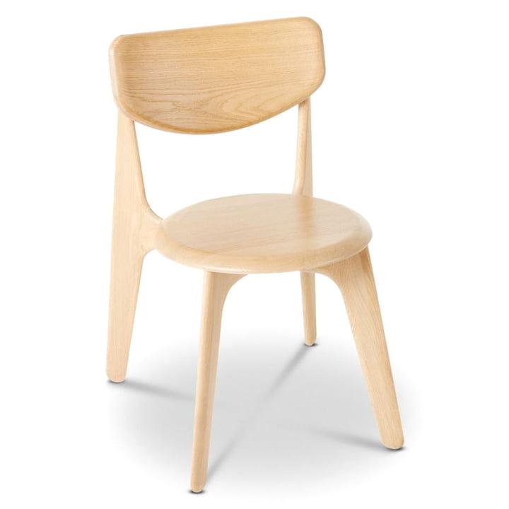 Chaise d'appoint en dalles de Tom Dixon en chêne naturel