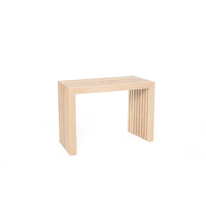 Banc en lattes de chêne, L 60 cm / chêne naturel de design d'intérieur
