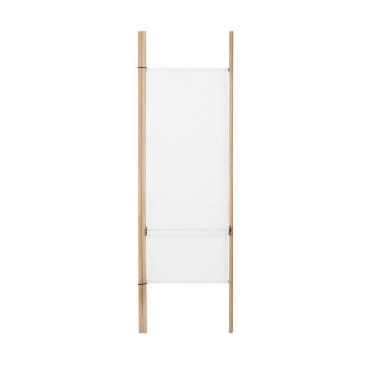 Paravent pour échelle de rangement avec 2 barres rondes, blanc de conception de la pièce