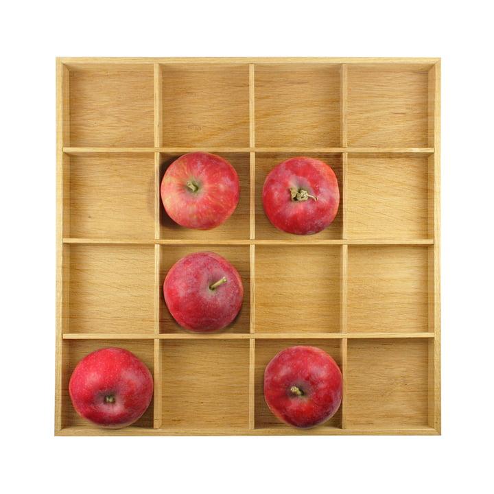 Boîte de pommes, 31 x 31 cm, chêne naturel, design d'intérieur
