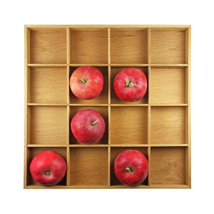 Boîte de pommes, 31 x 31 cm, chêne clair huilé par Raumgestalt