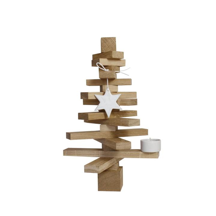 Garniture d'arbre H 30 cm, chêne nature de l'aménagement de la pièce